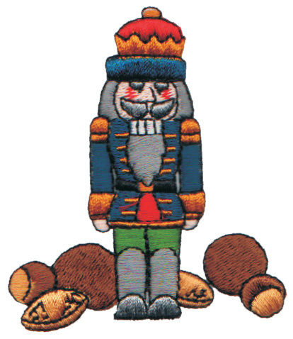 """Embroidery Design: Nutcracker with Assorted Nuts2.65"""" x 3.06"""""""