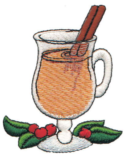 "Embroidery Design: Cup of Wassail2.62"" x 3.16"""