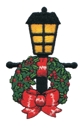 """Embroidery Design: Decorated Lamp Post1.98"""" x 3.08"""""""
