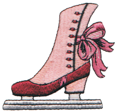 "Embroidery Design: Lady's Ice-Skate2.90"" x 2.85"""
