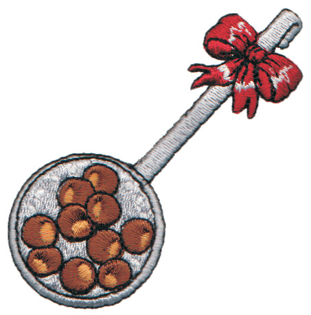 """Embroidery Design: Chestnuts Roasting2.67"""" x 3.14"""""""