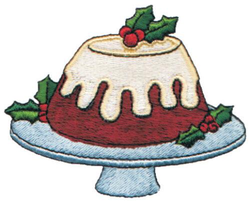 "Embroidery Design: Christmas Cake3.40"" x 2.66"""
