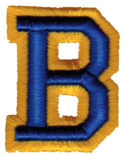 "Embroidery Design: Athletic Foam B1.57"" x 1.98"""