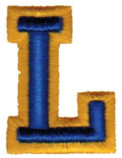 "Embroidery Design: Athletic Foam L1.48"" x 1.98"""
