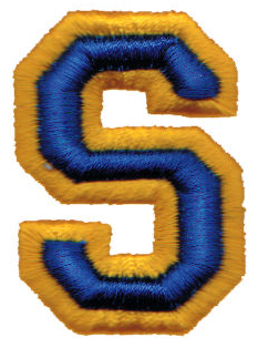 """Embroidery Design: Athletic Foam S1.42"""" x 1.99"""""""