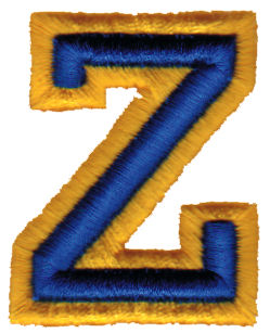 "Embroidery Design: Athletic Foam Z1.58"" x 1.98"""