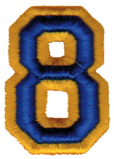 """Embroidery Design: Athletic Foam 81.43"""" x 1.98"""""""