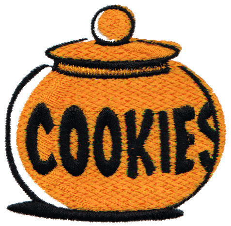 "Embroidery Design: Cookie Jar3.13"" x 3.02"""