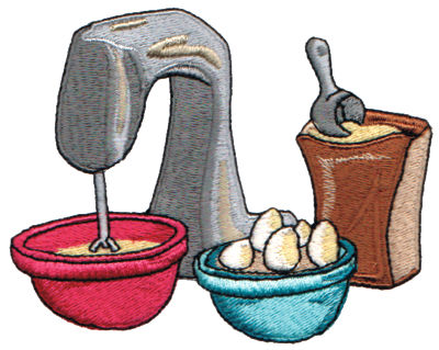 "Embroidery Design: Baking Time4.27"" x 3.36"""
