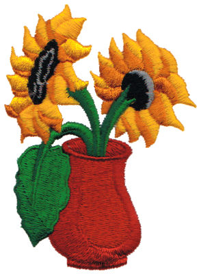 "Embroidery Design: Sunflowers2.66"" x 3.61"""