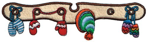 "Embroidery Design: Mittens & Toques5.79"" x 1.57"""