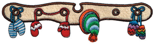 """Embroidery Design: Mittens & Toques5.79"""" x 1.57"""""""