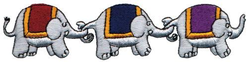 "Embroidery Design: Elephants5.84"" x 1.37"""