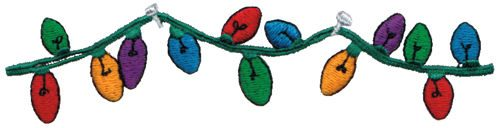 "Embroidery Design: String of Lights5.73"" x 1.38"""