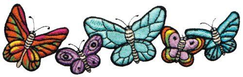 """Embroidery Design: Butterflies6.04"""" x 1.79"""""""