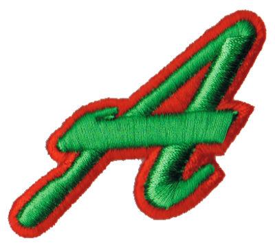 """Embroidery Design: Script Foam A2.65"""" x 2.23"""""""
