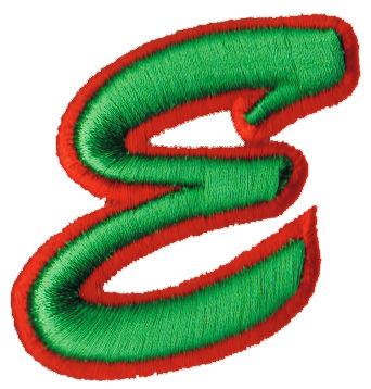 "Embroidery Design: Script Foam E2.21"" x 2.31"""