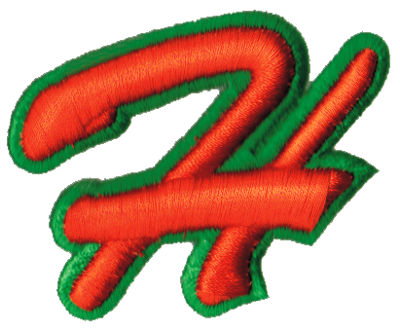 """Embroidery Design: Script Foam H2.68"""" x 2.17"""""""