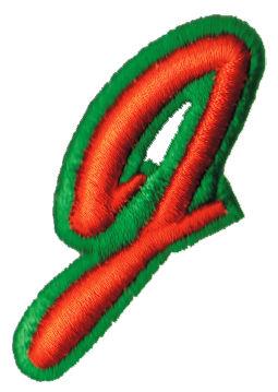 """Embroidery Design: Script Foam J1.58"""" x 2.23"""""""