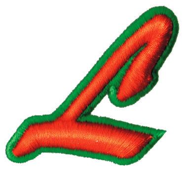 """Embroidery Design: Script Foam L2.39"""" x 2.18"""""""