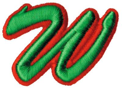 """Embroidery Design: Script Foam W2.92"""" x 2.12"""""""