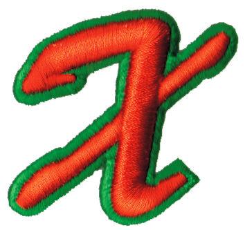 """Embroidery Design: Script Foam X2.19"""" x 2.15"""""""