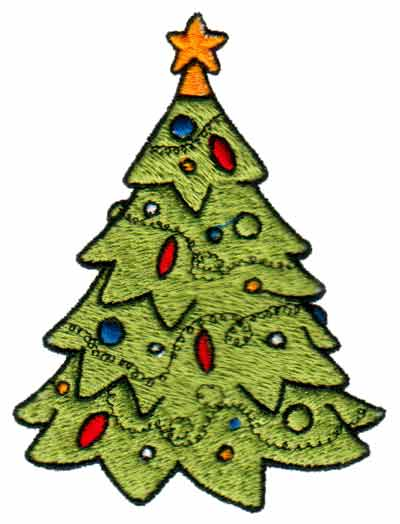 "Embroidery Design: Christmas Tree3.03"" x 3.98"""