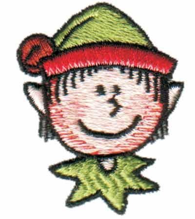 "Embroidery Design: Elf Head3.03"" x 3.98"""