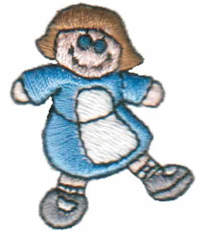 "Embroidery Design: Rag Doll1.24"" x 1.58"""