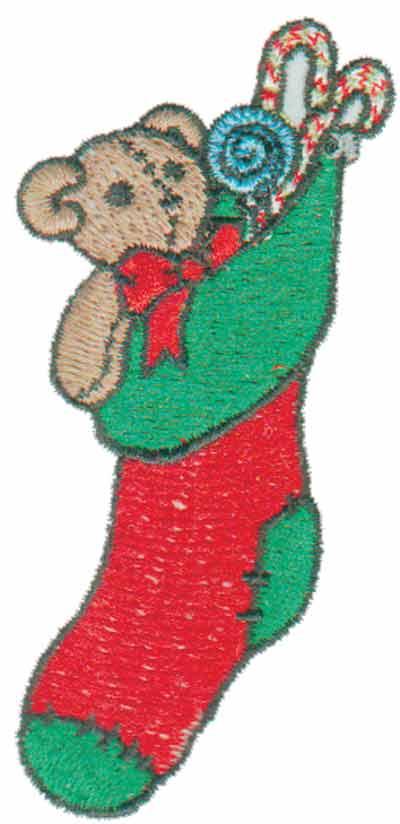"Embroidery Design: Stocking Stuffed1.57"" x 3.47"""