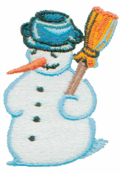 """Embroidery Design: Frosty Snowman1.60"""" x 2.32"""""""