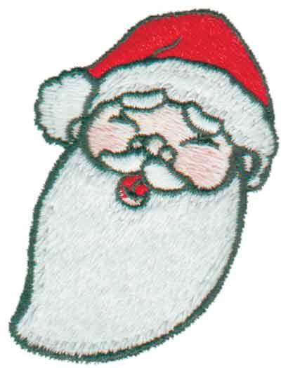 """Embroidery Design: Santa Head1.92"""" x 2.61"""""""