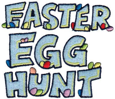 "Embroidery Design: Easter Egg Hunt3.96"" x 3.44"""