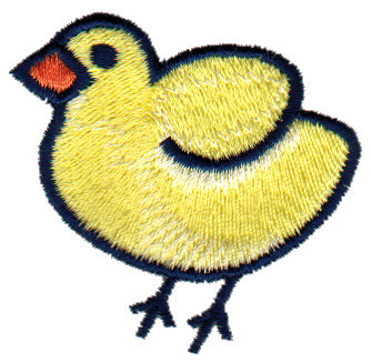 "Embroidery Design: Chicken Little2.17"" x 1.95"""