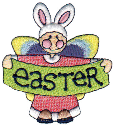 """Embroidery Design: Angel of Easter3.05"""" x 3.33"""""""