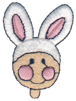 "Embroidery Design: Rabbit Ears1.69"" x 2.21"""