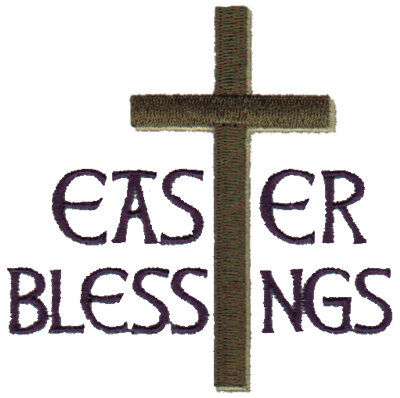 """Embroidery Design: Easter Blessings3.33"""" x 3.28"""""""