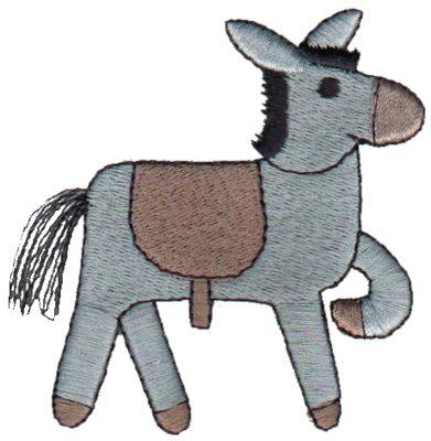 "Embroidery Design: Donkey2.99"" x 3.08"""