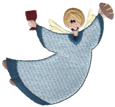 """Embroidery Design: Angel3.51"""" x 2.85"""""""