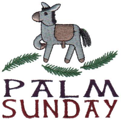 "Embroidery Design: Palm Sunday - Donkey3.40"" x 3.34"""