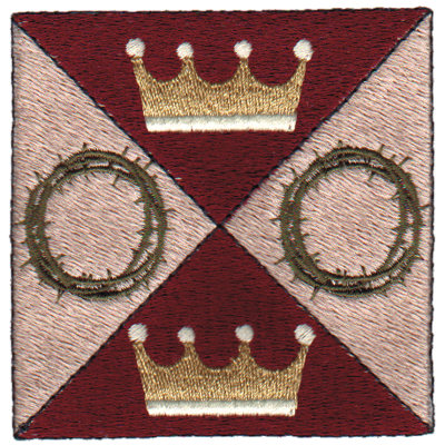 """Embroidery Design: Crowns2.95"""" x 2.94"""""""