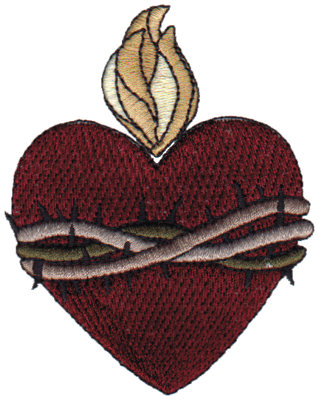 "Embroidery Design: Sacred Heart2.80"" x 3.55"""