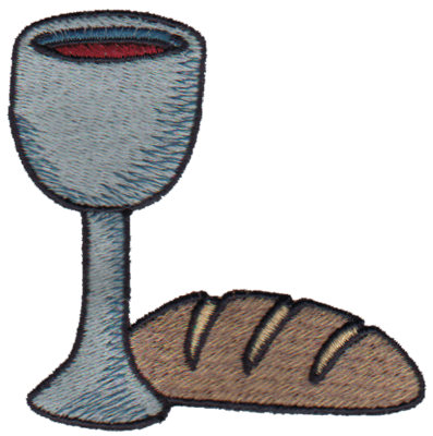 "Embroidery Design: Communion Cup & Bread3.03"" x 2.99"""