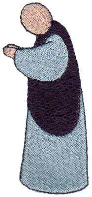 "Embroidery Design: Praying1.66"" x 3.50"""