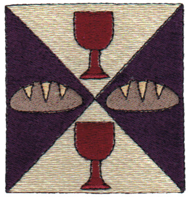 "Embroidery Design: Communion Quilt Square2.96"" x 3.06"""