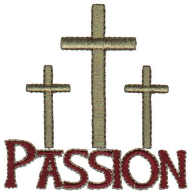 "Embroidery Design: Passion - Crosses3.24"" x 3.24"""