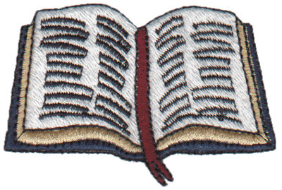 """Embroidery Design: Bible2.72"""" x 1.83"""""""