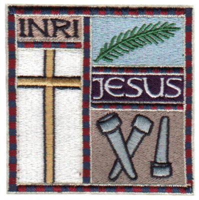 """Embroidery Design: INRI Jesus Quilt Square3.07"""" x 3.07"""""""