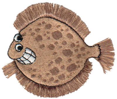 """Embroidery Design: Fringe Flounder3.08"""" x 2.56"""""""