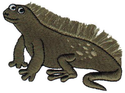 """Embroidery Design: Fringe Iguana3.22"""" x 2.17"""""""